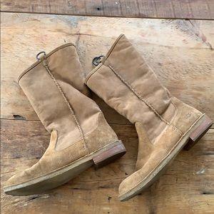 Ugg sheepskin lined hard some boots